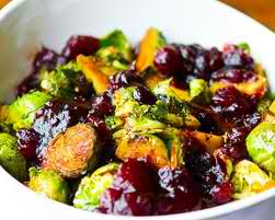 brussel sprouts, easy recipe, cranberries, pine nuts, nutrition,